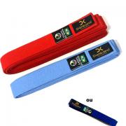 Conjunto Faixas Especiais de Competição: Azul (claro ou escuro) e Vermelha - Homologado pela CBK