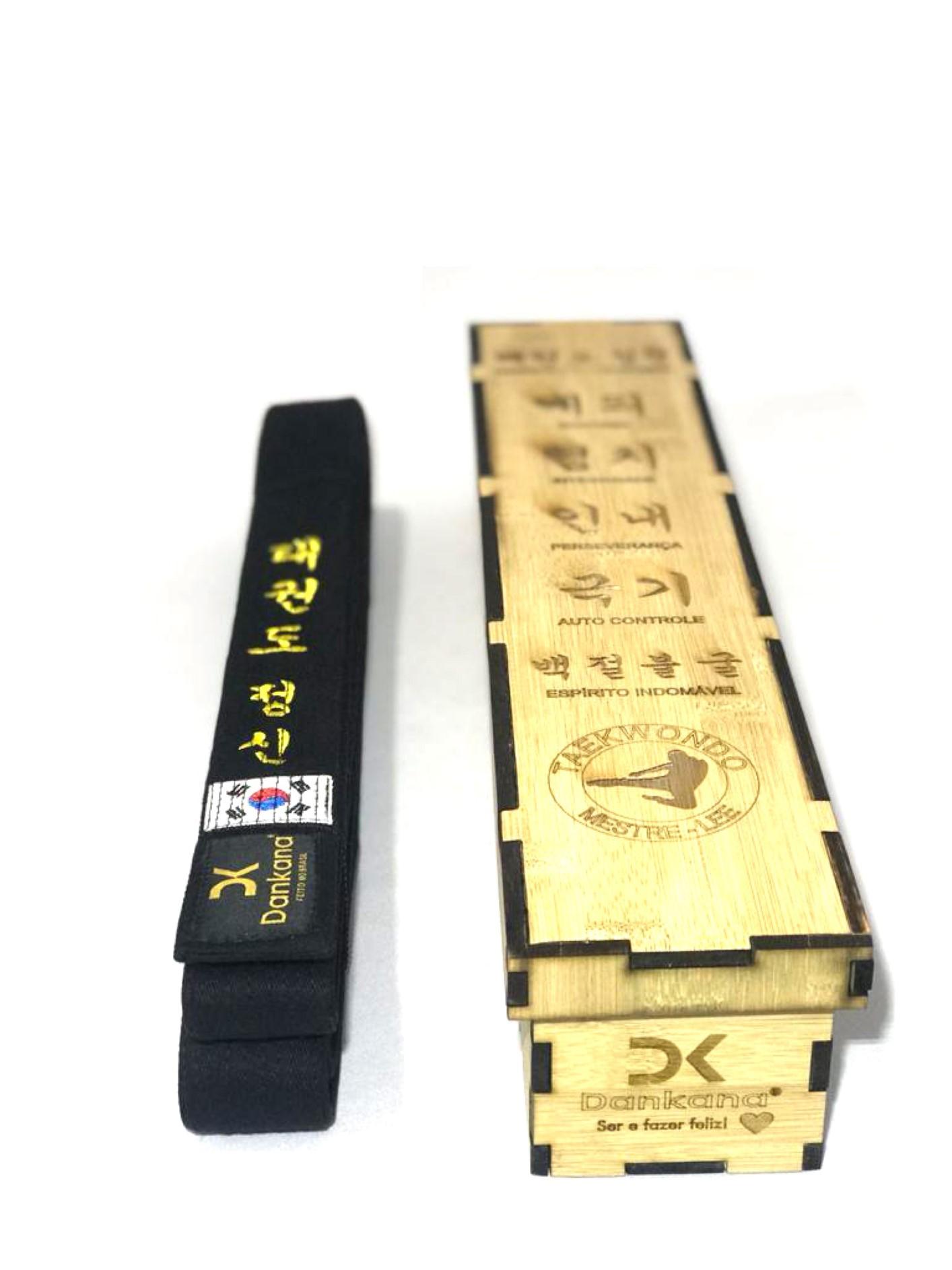 Caixa de Bambu + Faixa de Algodão - Ambas Personalizada