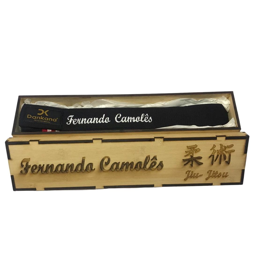 Caixa de Bambu + Faixa de Jiu-Jitsu Personalizada