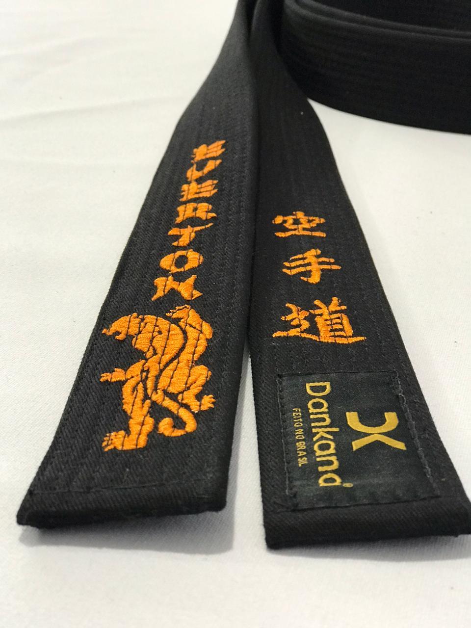 Faixa Algodão Especial  Bordada Karate