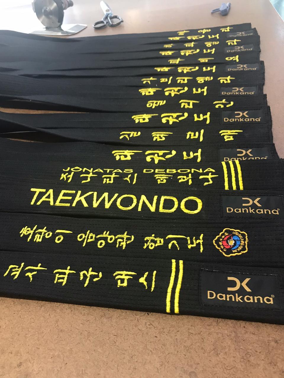 Faixa Taekwondo Algodão Especial Bordada