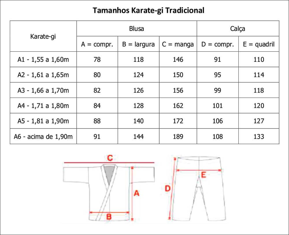 Kimono Tradicional Lona Média K10 Adulto