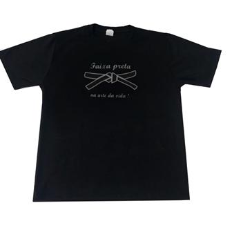 Kit Camisetas  Pai e Filho(a) Foco na Faixa Preta