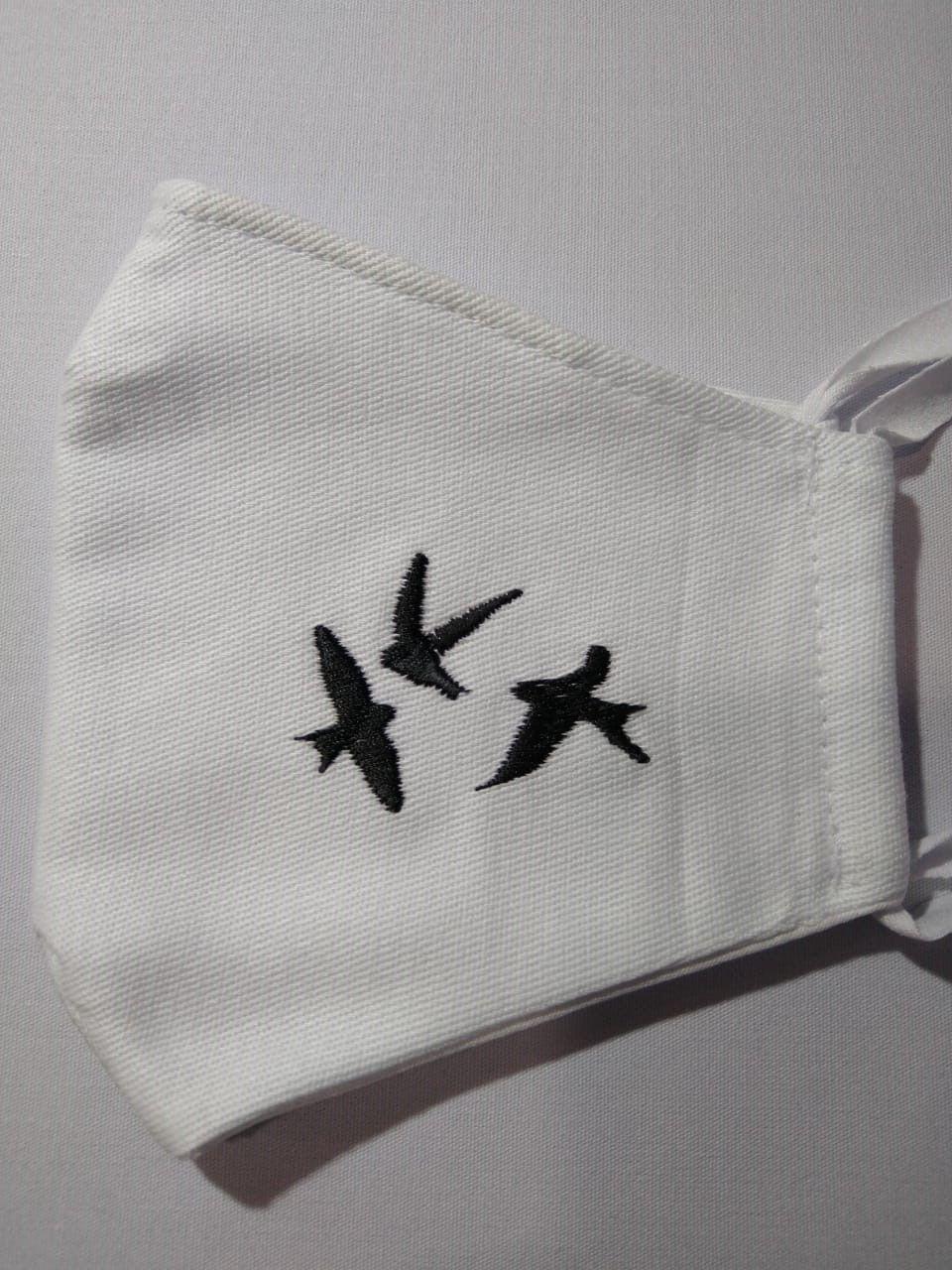 Kit Máscaras Bordadas Aves do Brasil