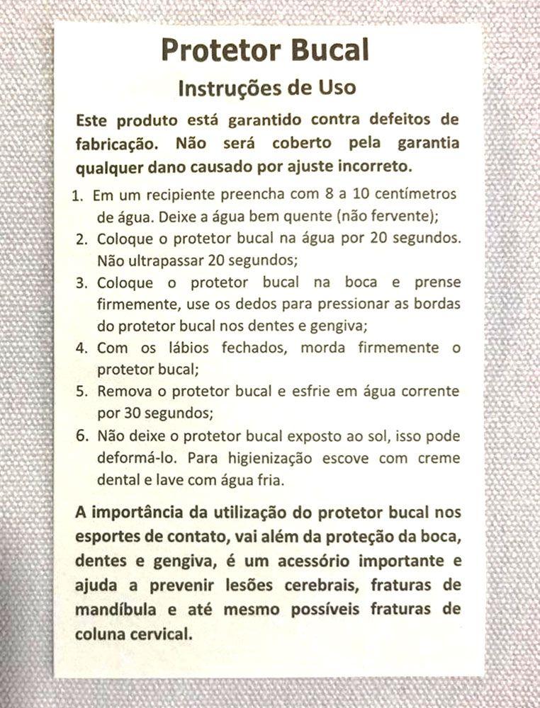 Protetor Bucal Duplo Moldável C/ Estojo