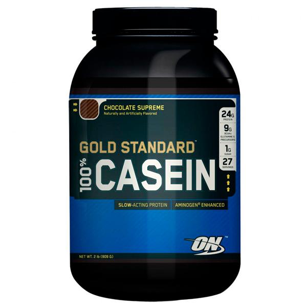100% Casein Gold Standard Optimum Nutrition 909g Chocolate
