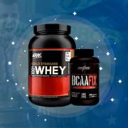 100% Whey Gold Standard Optimum Nutrition 1.09Kg + BCAA Fix com 240