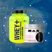 Kit Whey+ 900g 4+ Nutrition + Creatina 150g Grátis