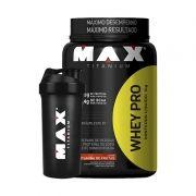 Whey Pro + Coqueteleira Grátis Max Titanium 900 G