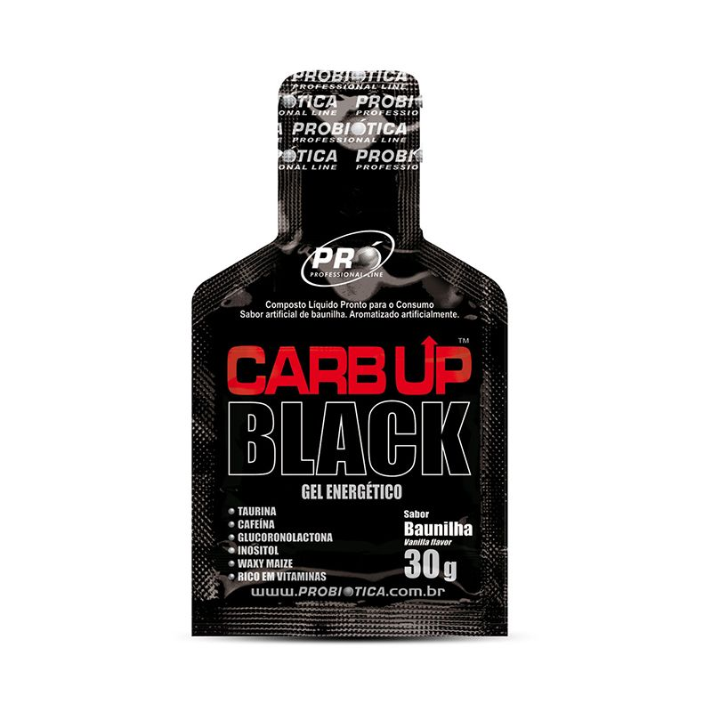 Carb Up Black Gel Probiótica 10 Sachês