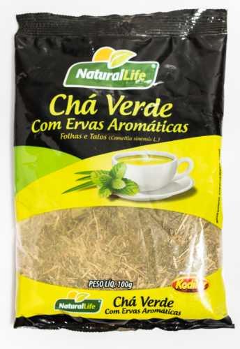 Chá Verde c/ Ervas Aromáticas Natural Life 100 G