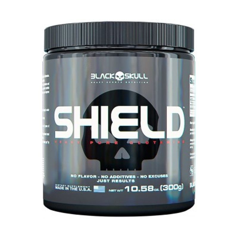 Glutamina Shield Black Skull
