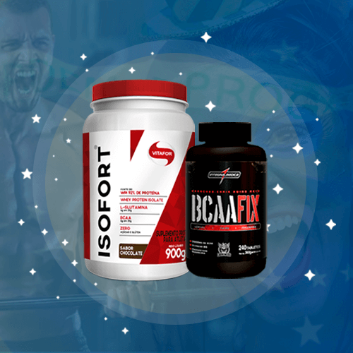 Kit Isofort + BCAA Fix com 240