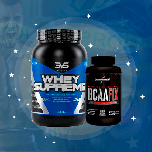 Kit Whey Supreme + BCAA Fix com 240