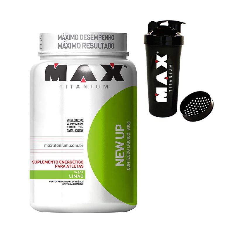 New Up + Coqueteleira Grátis Max Titanium 600 G Limão