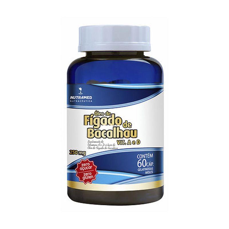 Óleo de Fígado de Bacalhau + Vitaminas A e D Nutramed 60 Caps