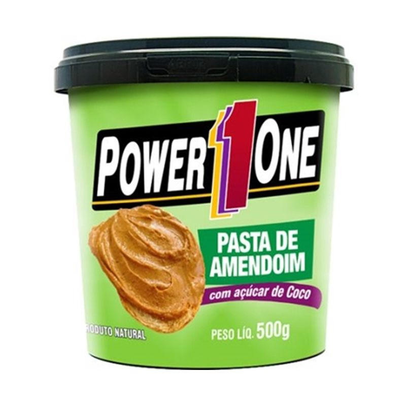 Pasta de Amendoim com Açúcar de Coco Power One 500 G