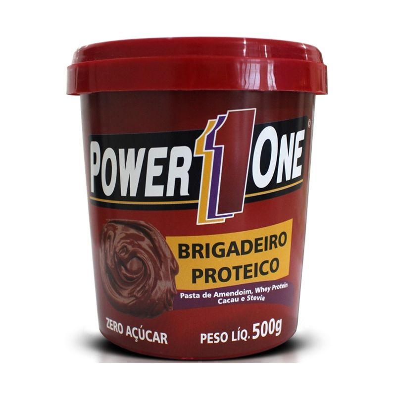 Pasta de Amendoim com Brigadeiro Proteico Power One 500 G Brigadeiro