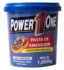 Pasta de Amendoim Integral Chocolate com Avelã Power One 1 Kg