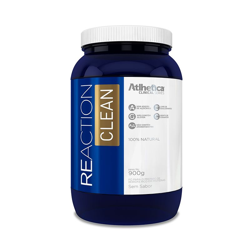 Reaction Clean Atlhetica 900g Sem sabor