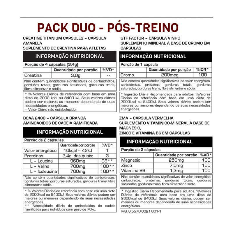 Titanium Ultimate Pack Duo Max Titanium 44 Packs