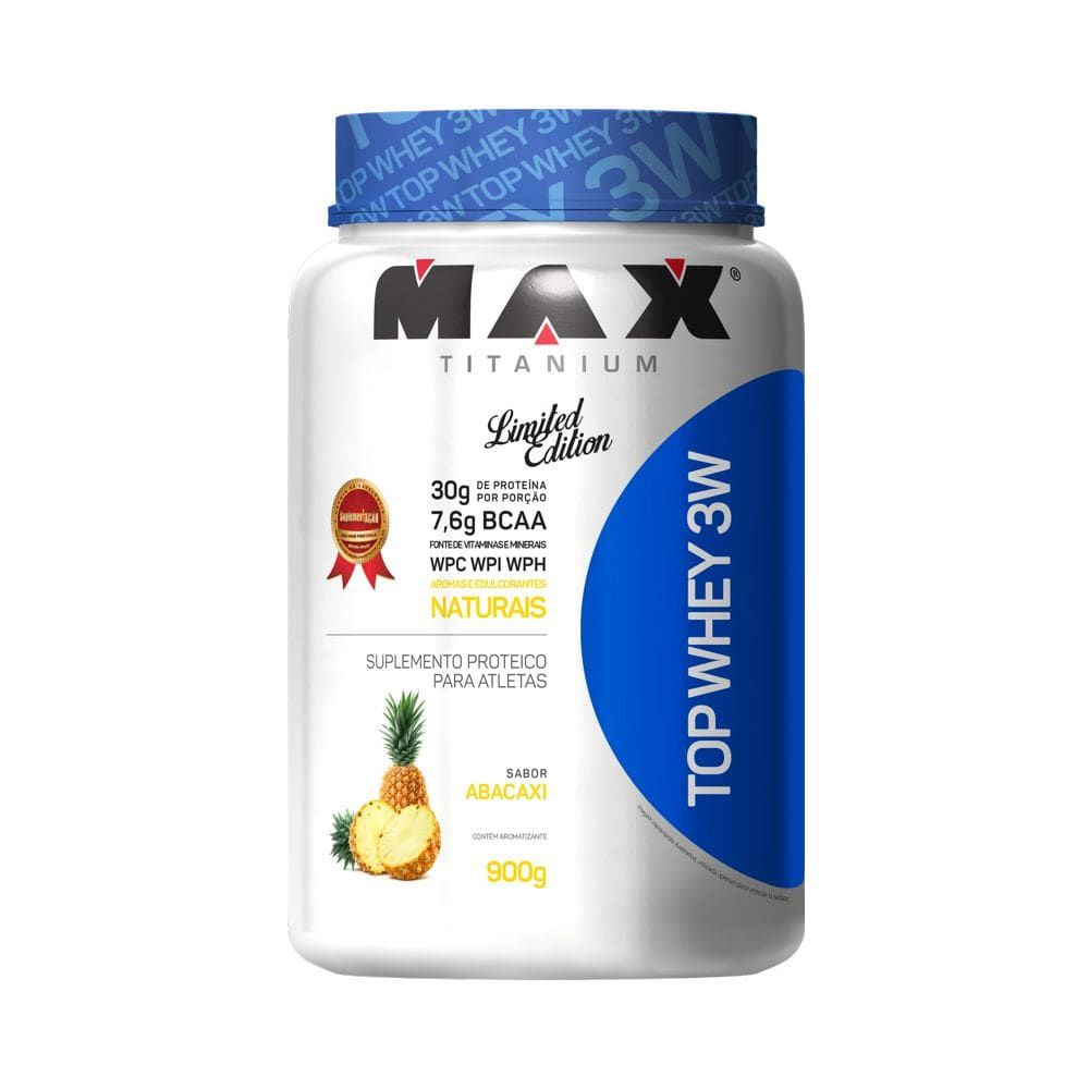 Top Whey 3W  Limited   Edition Max Titanium 900g Abacaxi