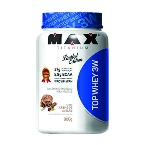 Top Whey 3W  Limited Edition Max Titanium 900g Creme de Avelã