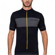 Camisa Ciclismo Squadra Woom Preto e Amarelo - Masc - 2019
