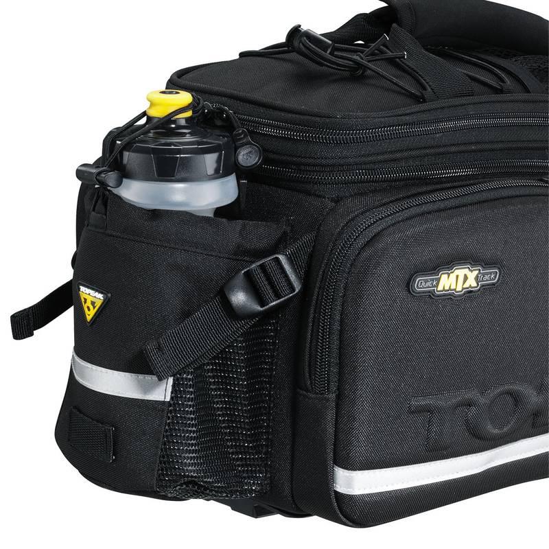 Alforje Topeak MTX Trunkbag DX 12,3 Litros com Lateral Rígida e Suporte para Garrafa de Água