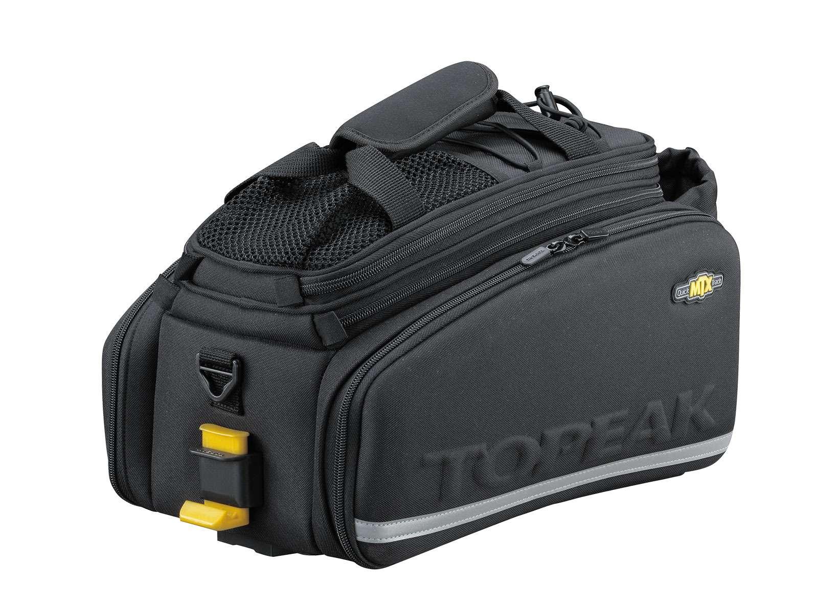 Alforje Topeak MTX Trunkbag DXP 22,6 Litros com Suporte para Garrafa de Água, Lateral Rígida e  Expansível