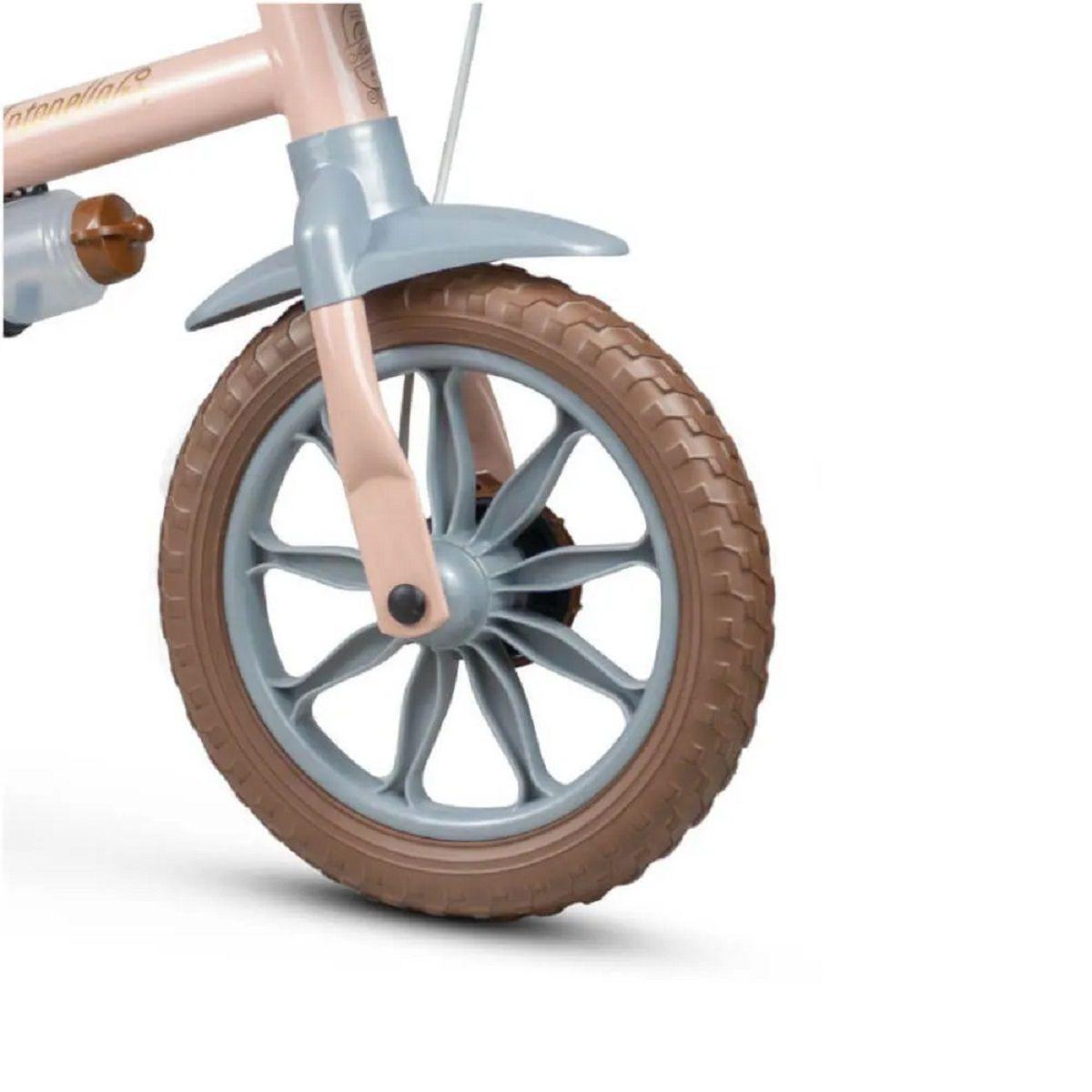 Bicicleta infantil aro 12 antonella baby com cestinha - Nathor