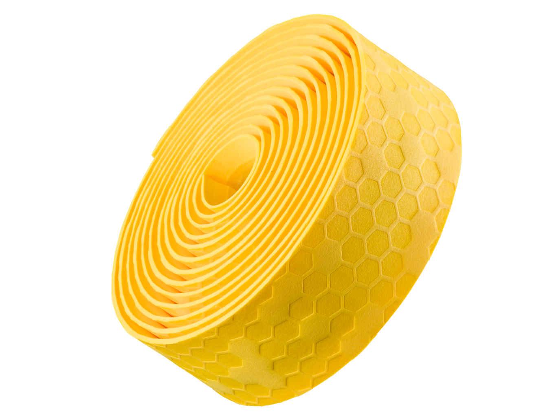 Fita de guidão Bontrager gel/cortiça - Amarela