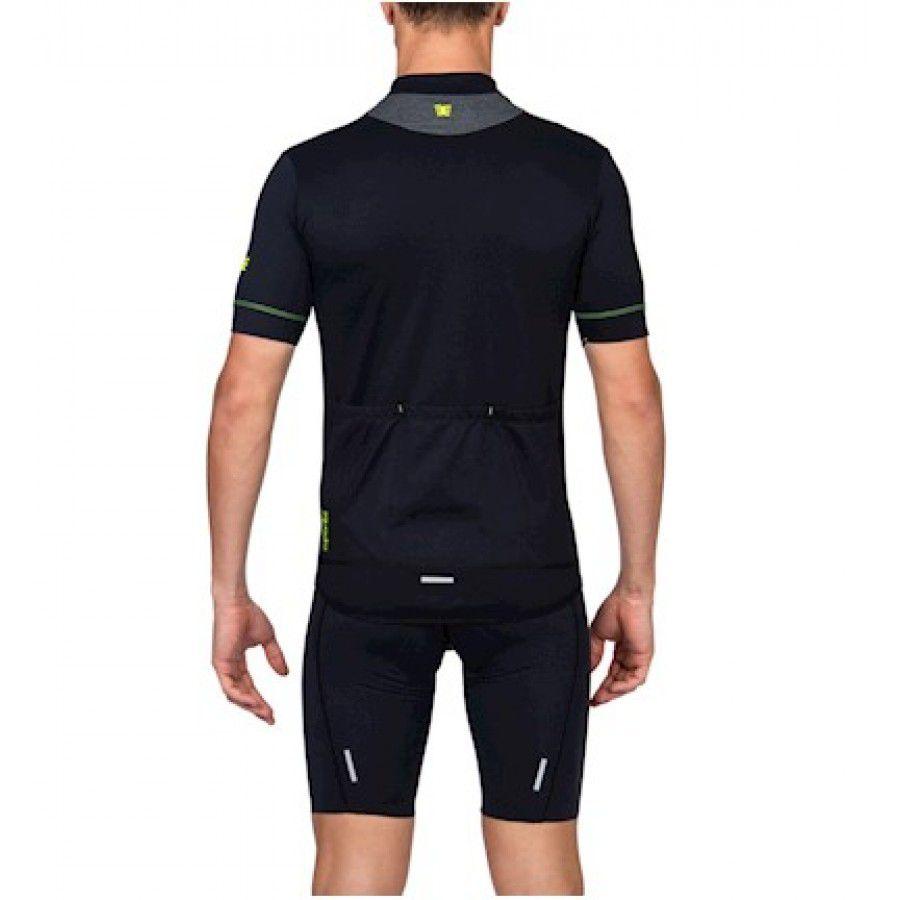 Camisa Ciclismo Squadra Woom Preto e Verde - Masc - 2019