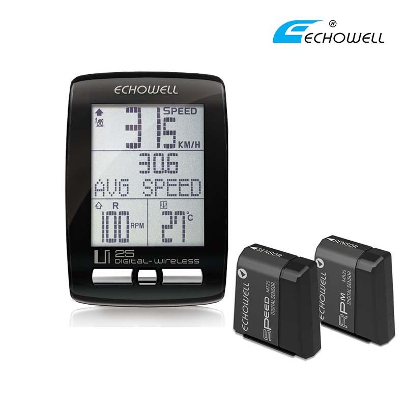 Ciclocomputador Echowell UI25 com sensores velocidade e ritmo