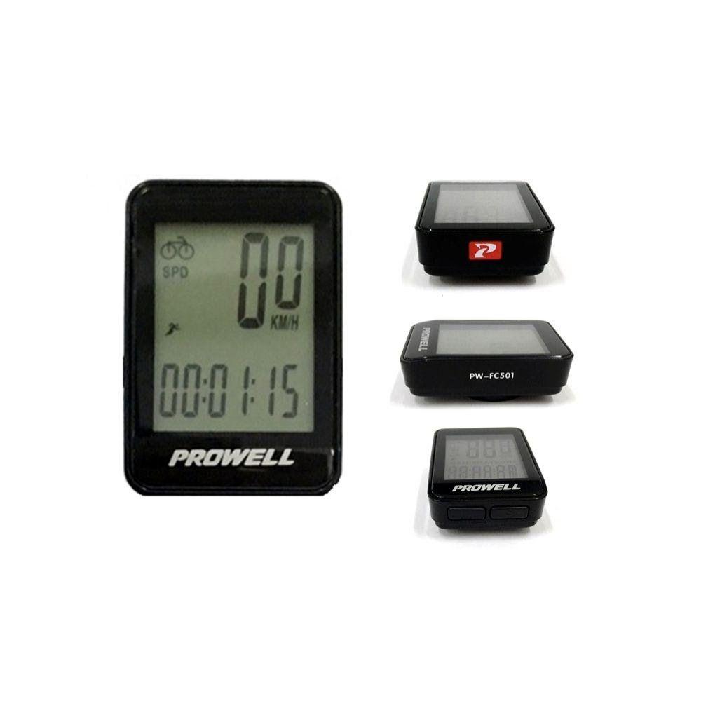 Ciclocomputador / velocímetro para bicicleta PROWELL PW-FC501 12 funções com fio