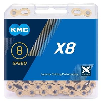 Corrente KMC X8 - Dourada