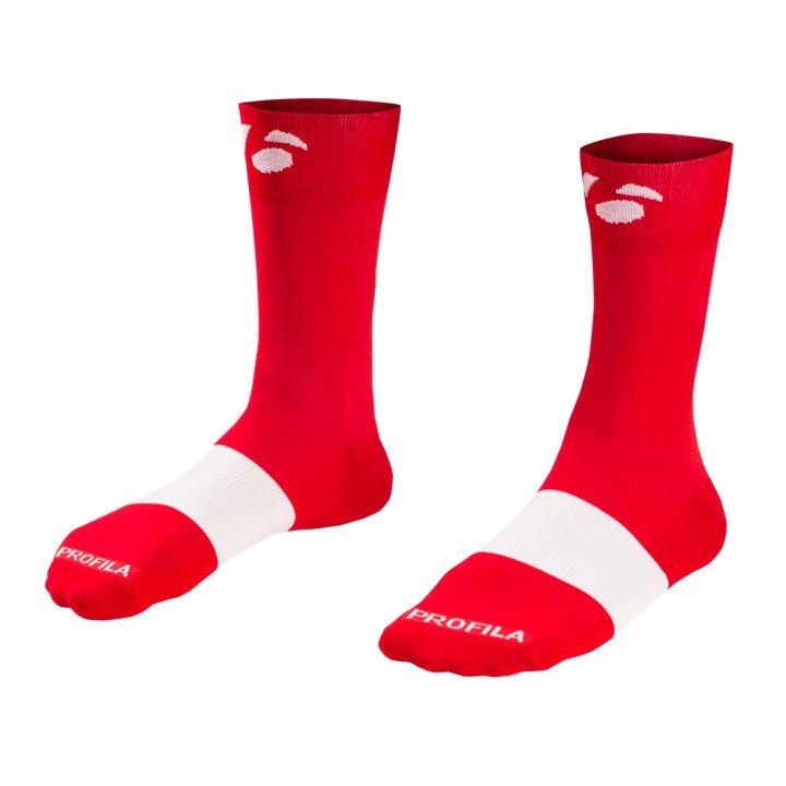 Meia para Ciclismo Bontrager de Cano mais Alto, de 13 cm (5 pol.) - Vermelha