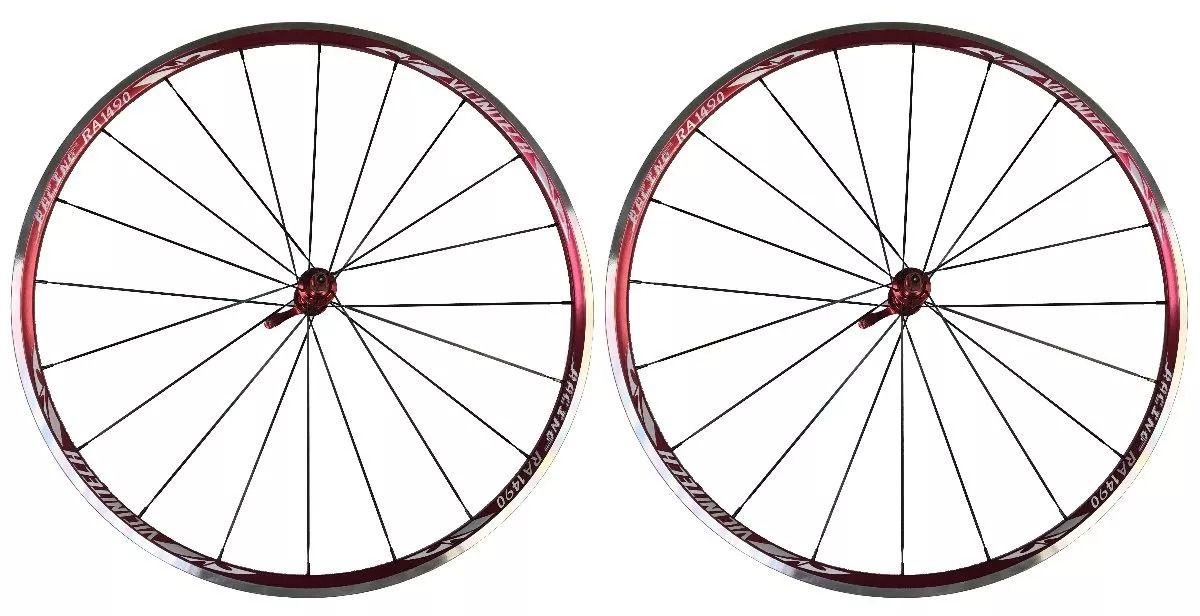 Rodas Vicinitech Speed RA 1490 Aro 700 - Vermelha C/ Blocagem Vermelha