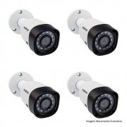 04 Câmera Bullet Infravermelho Multi Hd 4 Em 1 Intelbras Vhd 1010 B G4 Hd 720P 3,6Mm