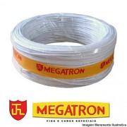 CABO ALARME MEGATRON 4 VIAS BRANCO ROLO 100 METROS
