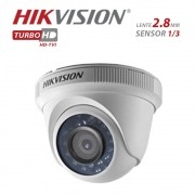 Camera Dome Infravermelho HIBRIDA Hikvison HD 720p DS-2CE56C0T-IRP 2,8MM