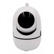Câmera Ip Sem Fio Wifi Smart  Hd 720P Robo Wireless, Com Áudio, Grava Em Cartão Sd, Com  Antena E Visão Noturna