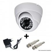 Câmera IR Dome AHD 1500 TVL 3,6mm + Fonte e Conector BNC