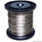 Carretel Arame Aço Inox Cerca Elétrica Fio 0,90mm 1000G Bobina 137 Metros