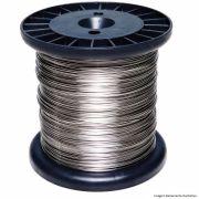 Carretel Arame Aço Inox Cerca Elétrica Fio 1,00mm 1000G Bobina 144 Metros