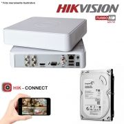 DVR Stand Alone Hikvision 04 Canais 720p Turbo HD + HD 500GB Pipeline de CFTV
