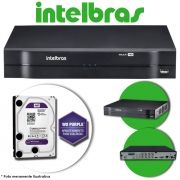 DVR Stand Alone Multi HD Intelbras MHDX-1108 8 Canais + HD 1TB WD Purple de CFTV