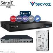 DVR Stand Alone Tecvoz TW P308 8Ch 720p Flex 5 em 1 AHD + HD 500GB Pipeline de CFTV