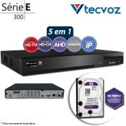 DVR Stand Alone Tecvoz TW P308 8Ch 720p Flex 5 em 1 AHD + HD WD 2TB Purple de CFTV