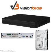 DVR UltraHD Visionbras XVR 4104 4 Canais 720P + HD 500gb Pipeline Pul de CFTV